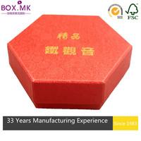 Attractive Hexagon Red Tea Cup Storage Box