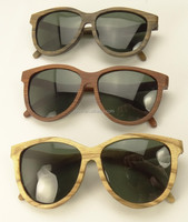 lady fashion Zebra wood sunglasses with polarized lens