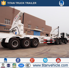 Container ship trailer, side-lift, self-loading container handling trailer