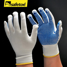 China cotton work glove with rubber grip dots,PVC dotted glove,PVC dotted cotton glove