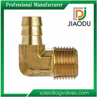 Custom Made Lead Free Brass threaded Forged Copper male elbow pipe fittings single hose barb fittingsfor plastic hoses