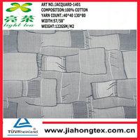 100% cotton yarn dyed jacquard fabric