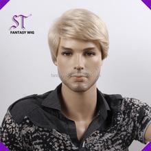 10 years munufacturer produce white gray fashional men wig
