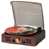Antique USB record player wholesale with wooden phonograph speaker