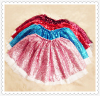 New Baby Girl Tutu Skirt Chiffon Princess Dance Party Pettiskirt Ruffles Bow Floral Kids Mini Sequin Skirt