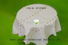 embroidery hand made ribbon topper banquet table cloth