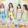 fashion party wear summer girl kid dress stripe girls party dresses 2015