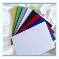 Green 2015 hot sale high density 1-6mm white plastic pvc foam sheet for sign