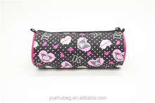 Round cartoon picture cute pencil pouch made in China