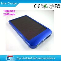 2600mah solar mobile phone charger for iphone