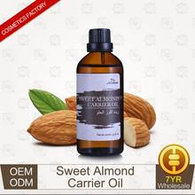 OEM/ODM Supply Sweet Almond Carrier Oil Base Oil Massage Oil for Skin Care 30ml