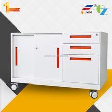 New designed sliding door 3 drawers pedestal sink cabinet/laptop pedestal/pedestal mailbox