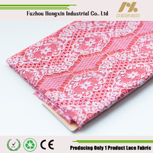 fuzhou new design lovely pink white nylon bulk etelash lace for african wedding dress garment wholesale high quality