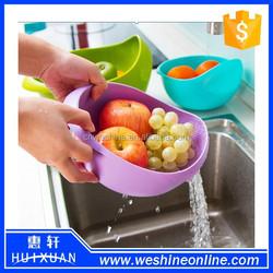 Practical kitchen basket plastic fruit and vegetable basket