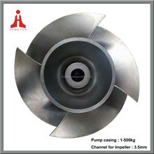 126kg raw casting open centrifugal pump impeller pump blade,stainless steel fan impeller