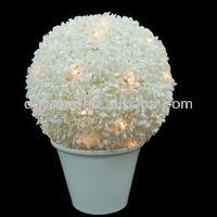 vendita calda artificiale bosso arte topiaria palla con luci a led