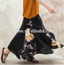 jiqiuguer original de la marca impreso floral maxi largo plisado falda hermosa y elegante
