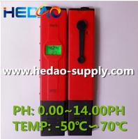 2015 Fast selling ph meter temperature display swimming pool tester