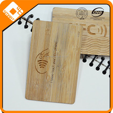 nfc wood grain card/wood id card/wood engraved Business card
