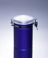 940ml Supplier food safe fashion red color metal clip food jars snap top metal clip jars