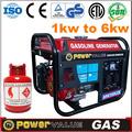 Gas natural y glp gnl gnc 5kw 5 kva de la bobina de cobre barato generador de gnc( zh6500cnlc)