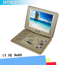 100% Hot 9.8 Inch Portable Home DVD Players With FM Radio Analog TV Support Multi-language