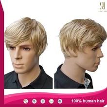 Top Quality 100% Brazilian Human Hair Wig Toupee