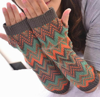 2014 Winter Fashion Knitted Extra long half finger gloves, winter gloves mitten half finger gloves