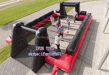 inflatable foosball field snooker table / inflatable human foosball field / human foosball inflatabe snooker ball