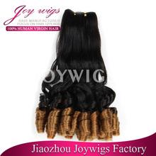 Más de moda funmi pelo de color en dos tonos del pelo teje para negro mujeres