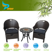 Outdoor Patio Wicker Furniture New Resin Round Dining Table & Chairs Set