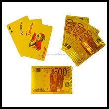 High quality casino cards Hot sale gold plated cards custom playing cards