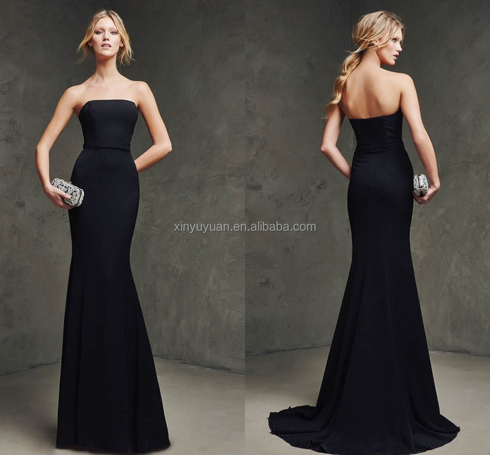 Black Strapless Evening Gown | Dress images