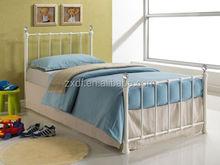 Fashion designs wooden bed designs single antique metal bed frame