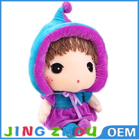 2015 new arrival stuffed soft plush toy cute and pretty girl dolls for children