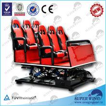 6 dof electric/hydraulic 7d cinema equipment 7d simulator cinema