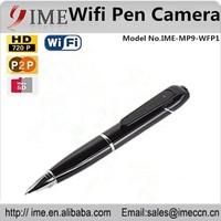 WiFi Pen Hidden Camera mini HD Recorder Covert Clock DVR P2P IP Iphone support micro SD/TF card