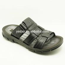 Precio barato venta al por mayor del dedo del pie abierto superior de cuero suela pu chino sandalias de cuero
