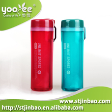 450ml Plastic PP Sports Drinking Double Layer BPA Free Water Bottle With Handle