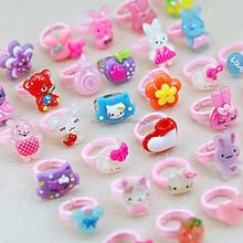 kid's cute flower rings chilidren day gift ring wholesale rings for child