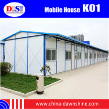 Light Steel Structure for Prefab House / CE, ISO Certificate Prefab Camp House / Sandwich Panel Mobile House