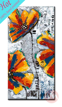 Dropshipping decorative flower canvas oil paintings