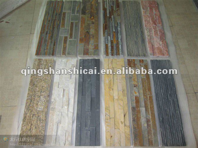 Rivestimento della parete interna in ardesia ardesia rame pannelli pannelli pietra show con for Rivestimento parete interna