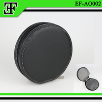Classic high quality wholesale promotional gift pu leather cd bag/cd holder/cd case