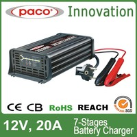 Desulfation battery charger 12V 20A,7 stage automatic charging with CE,CB,RoHS certificate