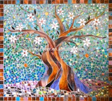 Good quality glass mosaic art factory in China