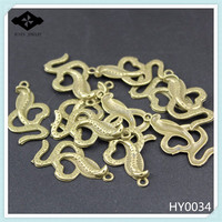 HY0034 DIY Alloy jewelry findings Antique Bronze Plated Charms Snake Cobra pendant accessories