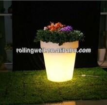 LED colorful large led flower pot/led illuminated furniture/illuminated planters and pots/led power flower pot