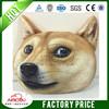 2015 new design cute dog face pillow plush dog cushion