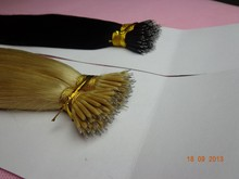 Russian nano ring wholesale hair extensio Black and Blond Nano Ring Hair double drawn remy hair